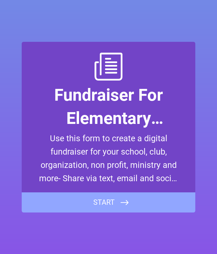Fundraiser for Elementary School PTA