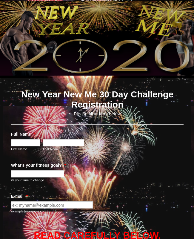 New Year 30 day challenge