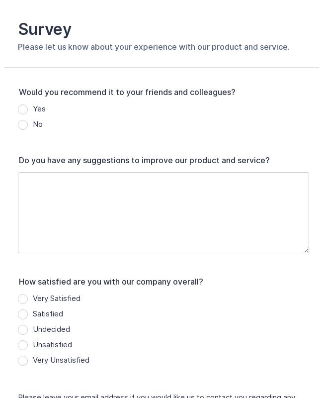Product Customer Feedback