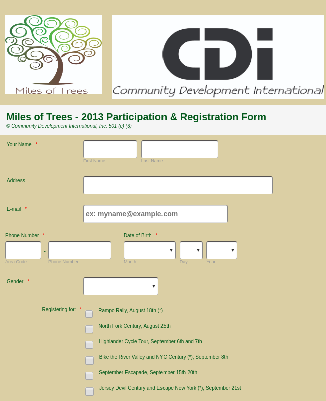 Participation and Registration From