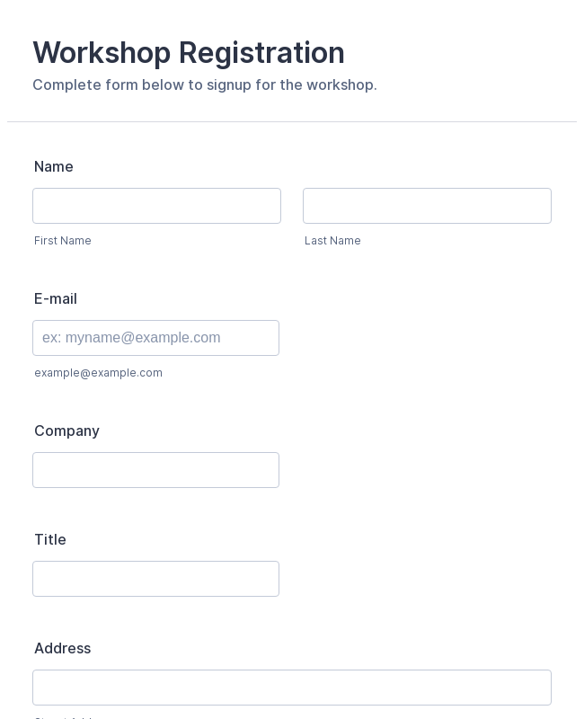 Event Registration Forms - Form Templates | JotForm