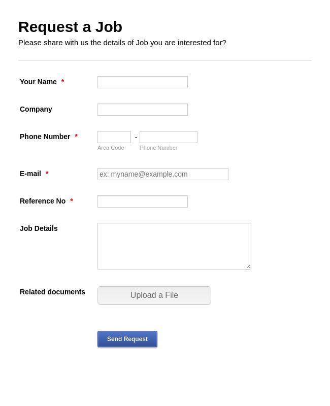 Job Request Form