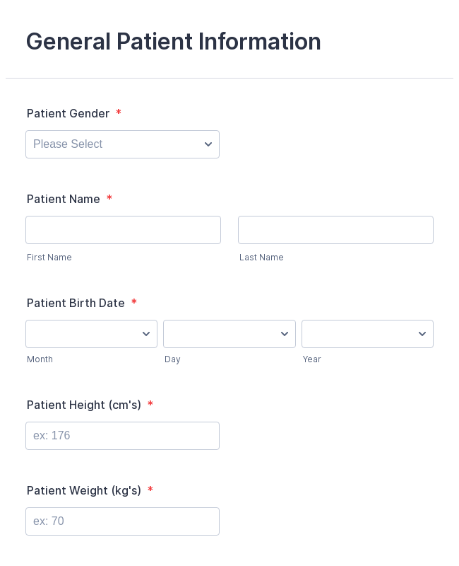 patient demographic information form template