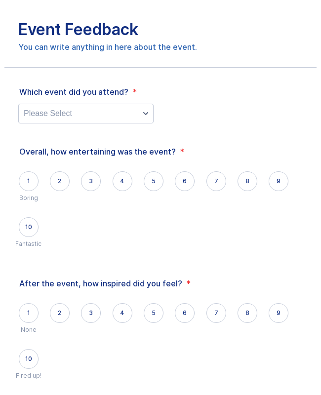 Event Feedback Form