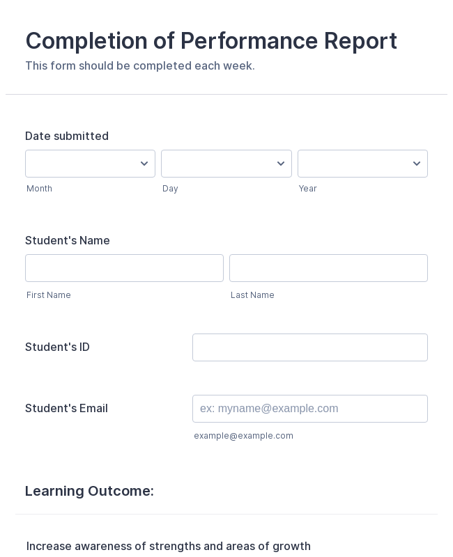 Evaluation Forms - Form Templates | JotForm