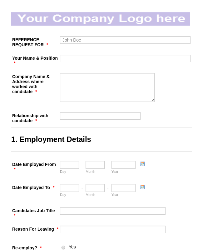 Recommendation Forms - Form Templates | JotForm