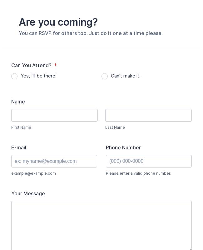 Attendance Form