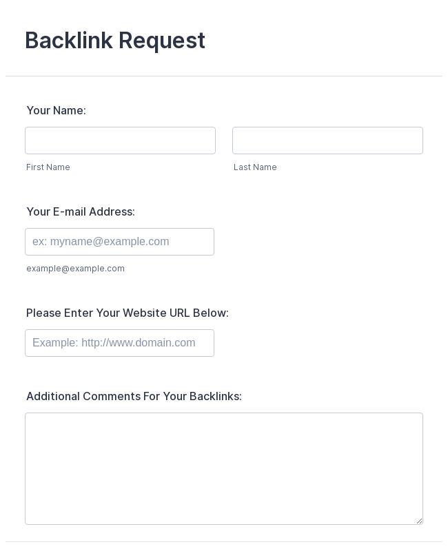 Backlink Request Form