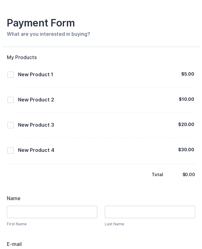 PayPal Payment Form