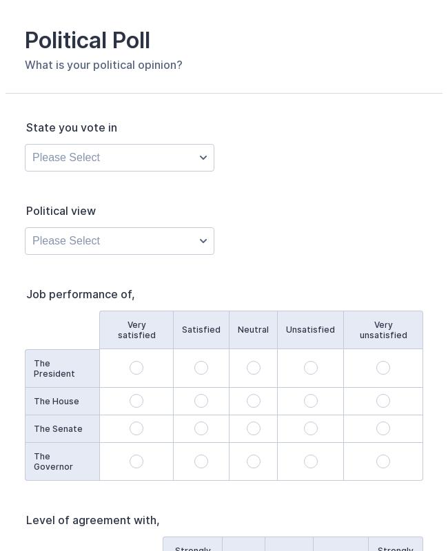 Political Poll