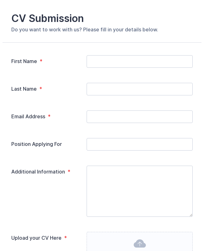 CV Application Form