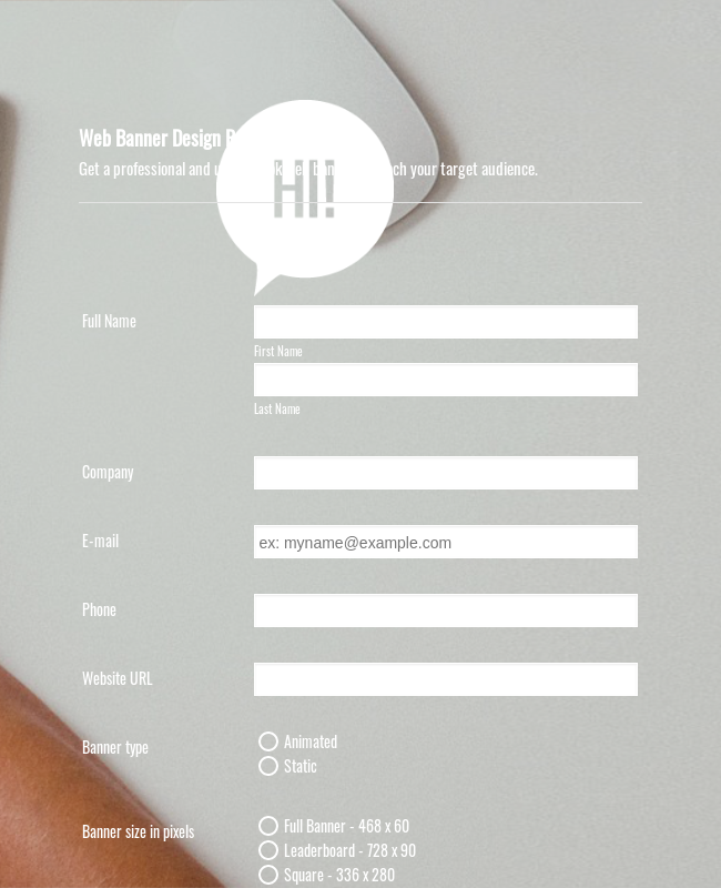 Web Banner Creation Request Form