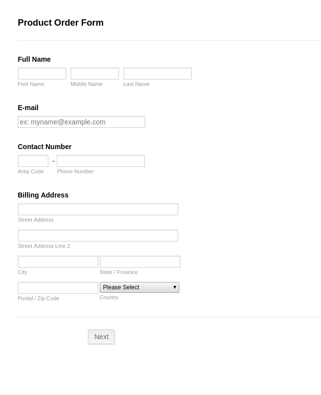 Order Forms - Form Templates | JotForm