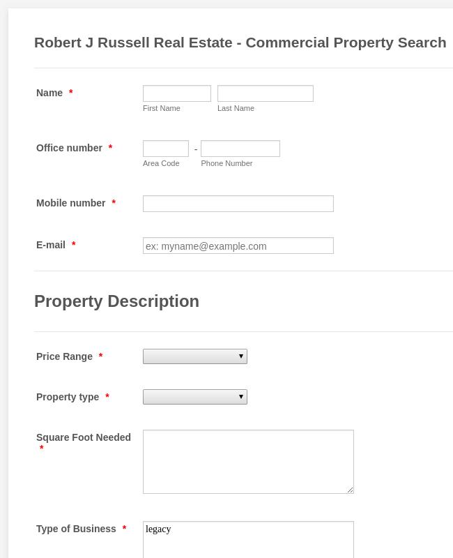 Property Valuation Request Form Template Jotform