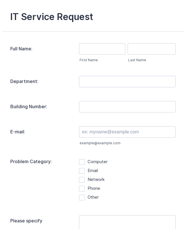 500+ Request Forms | JotForm