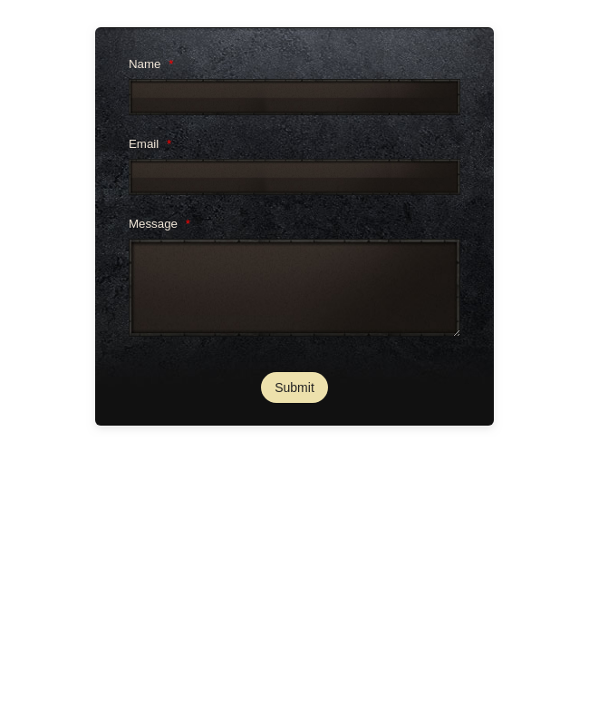 Contact Form With Gaming Theme