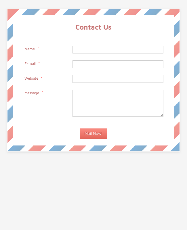 Contact Form - Courier Envelope Theme