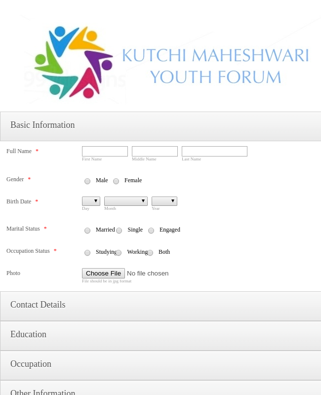 Youth Forum Form - Detailed