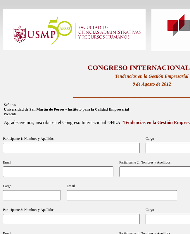 Registro Congreso Internacional