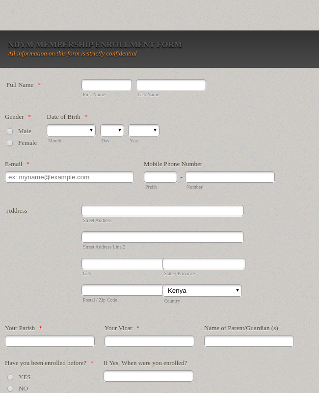 Church Membership Form Template Jotform