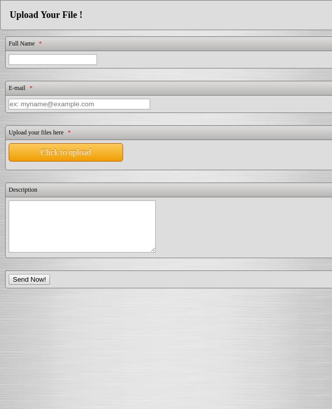 110+ File Upload Forms | JotForm