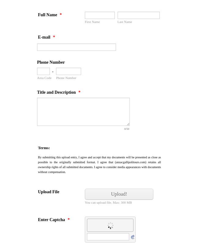 Entry Upload Form