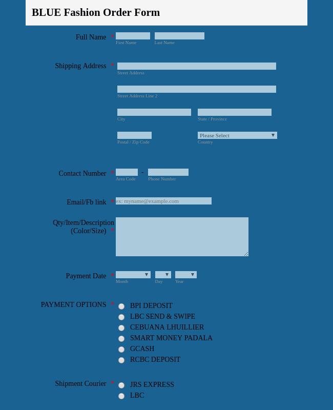 Order Forms - Form Templates   JotForm