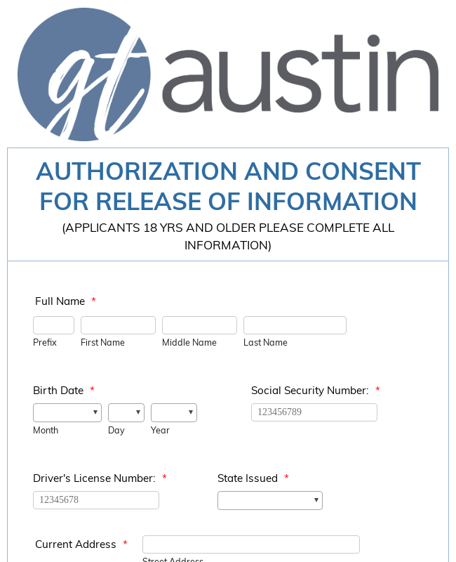 Volunteer Authorization and Consent Form