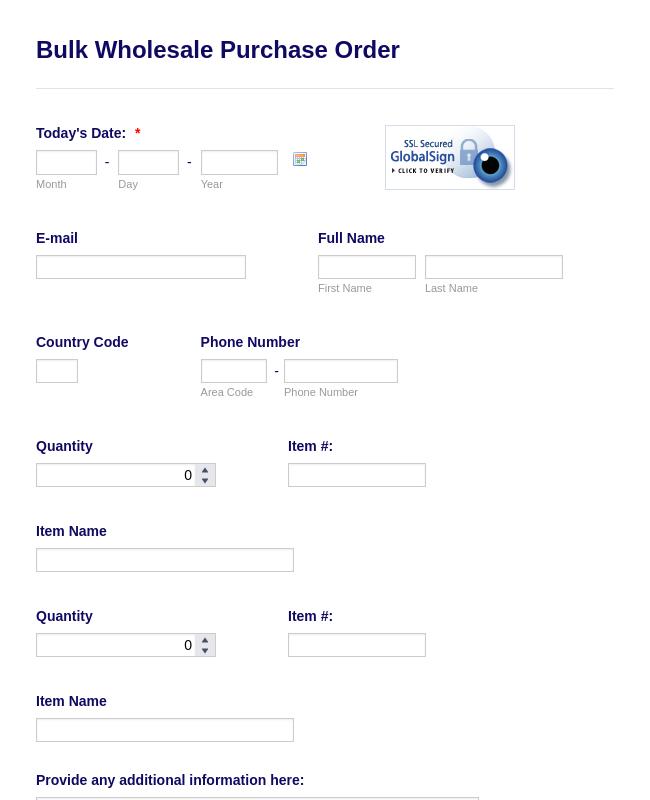 order form booklet  8+ Order Forms - Form Templates | JotForm