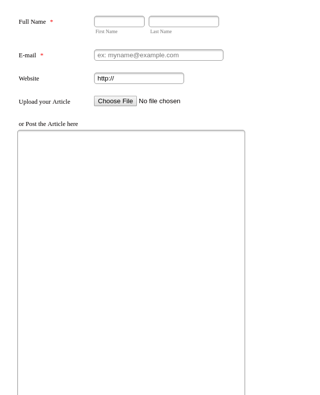 Article Submission Tool - EntranceUniversity
