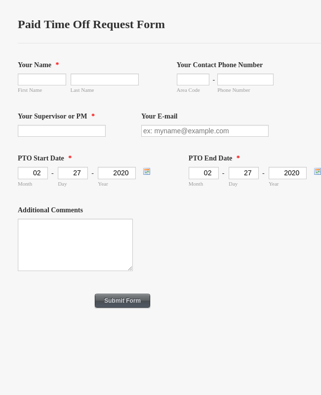 FREE 13+ Sample Time Off Request Forms in PDF | MS Word ... |Requesting Pto Days