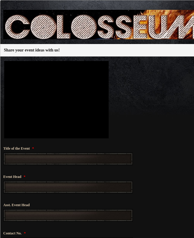 Colosseum Event Suggestion Form