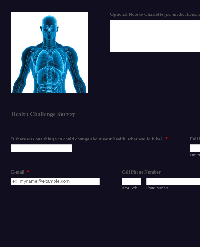 Health Challenges Survey