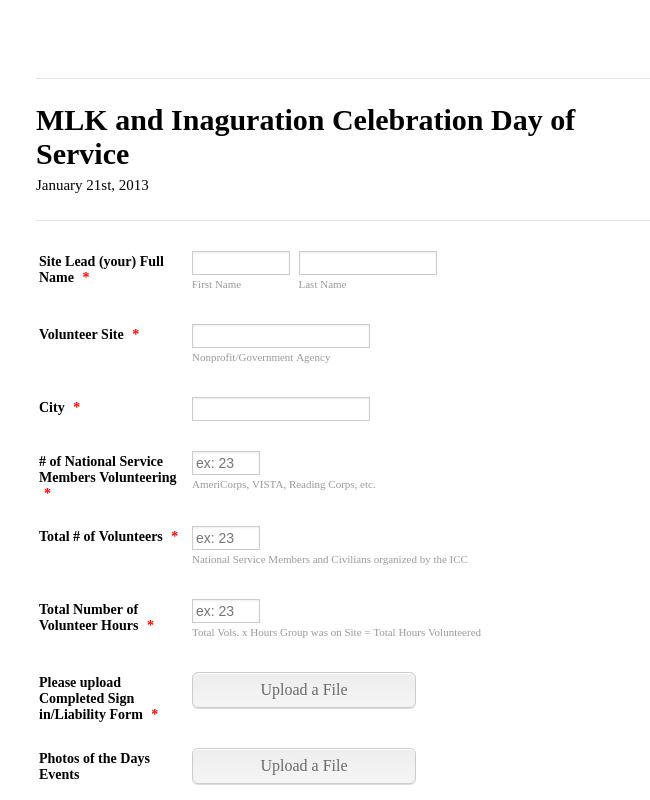 MLK Day Of Service 2013