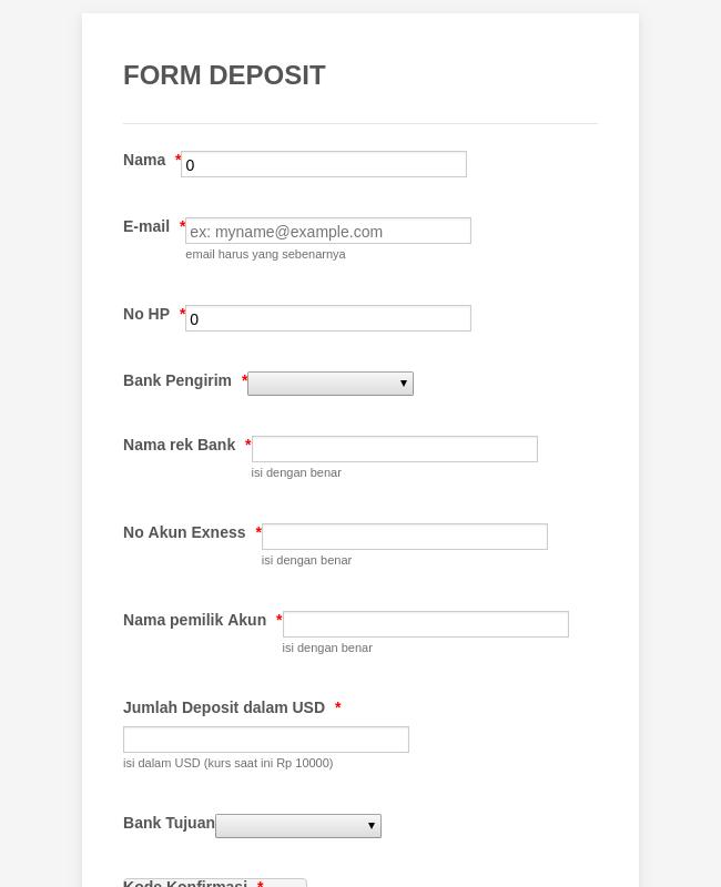 deposit form adalah  Bank Deposit Form Template | JotForm