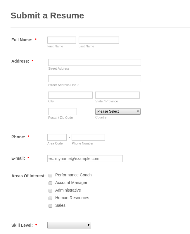 employee suggestion box form template.html