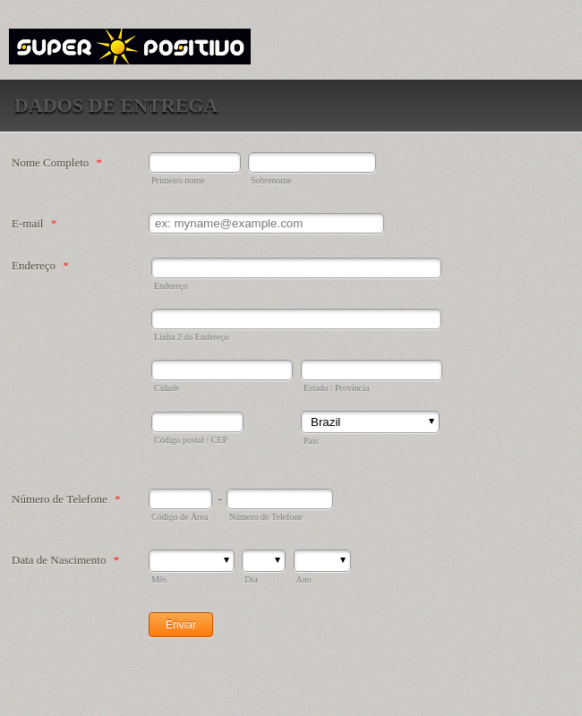 Data Delivery Form