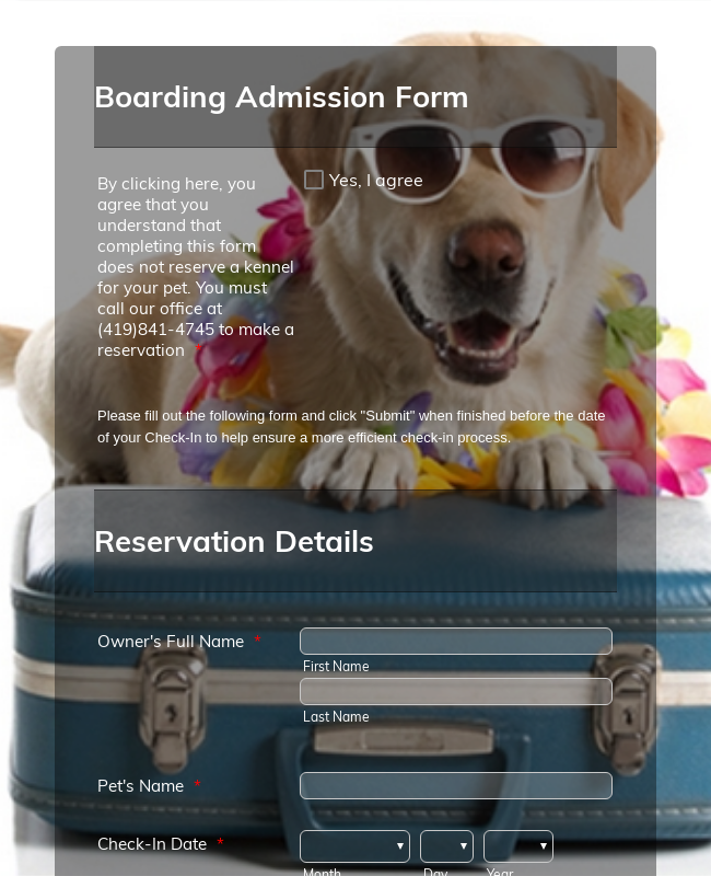 Boarding Check in