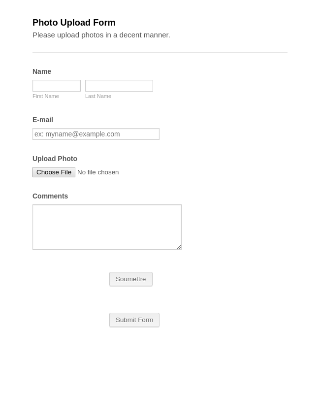 Photo Upload Form