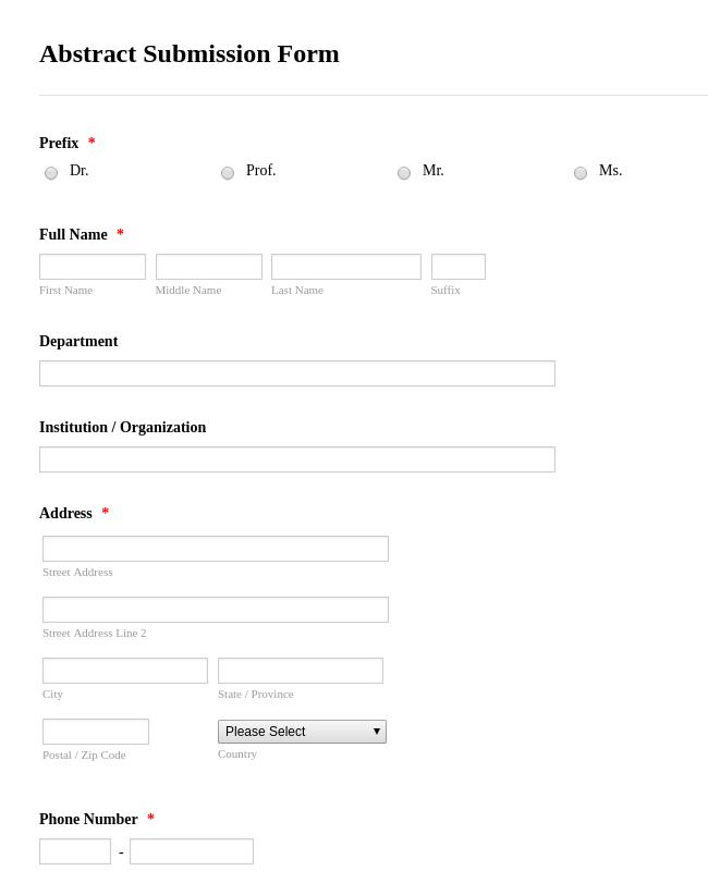 Medical Report Form
