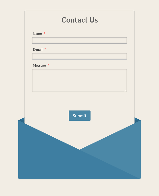 Responsive Envelope Contact Form