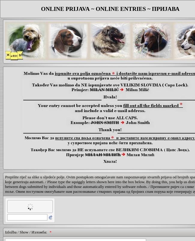 KSRS Dog Show Event Registration