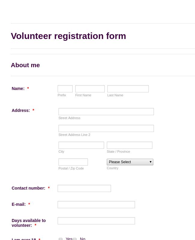 National Trust Volunteer Registration
