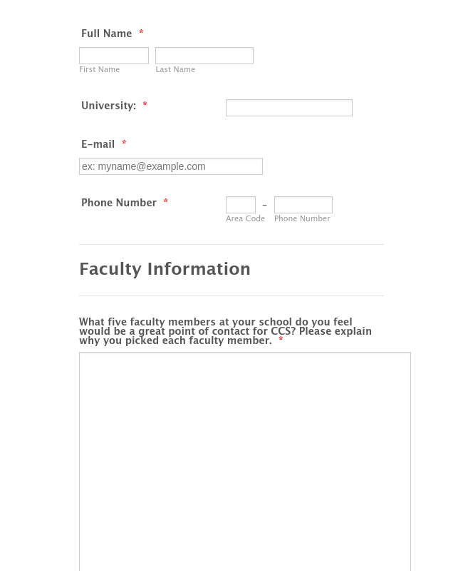 Faculty Outreach Pre-Mission Report