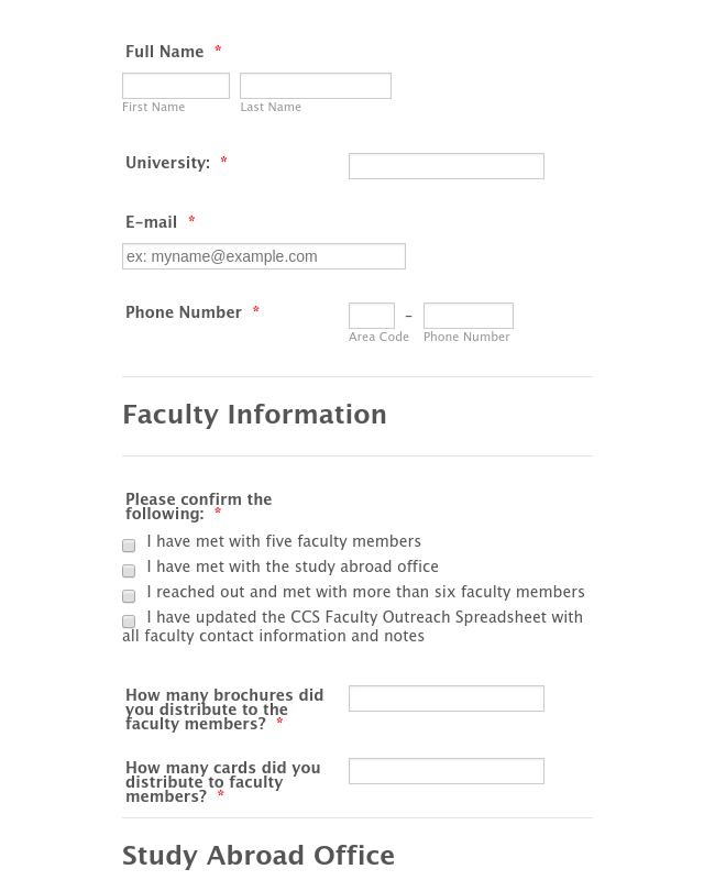 Faculty Outreach Post-Campaign Report