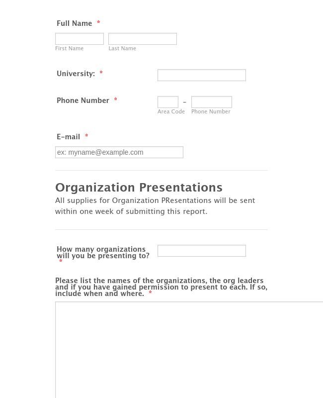 Organization Presentation Pre-Mission Report