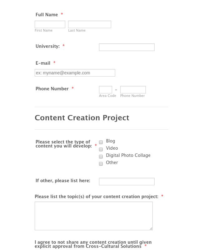 Content Creation 3 Pre-Mission Report