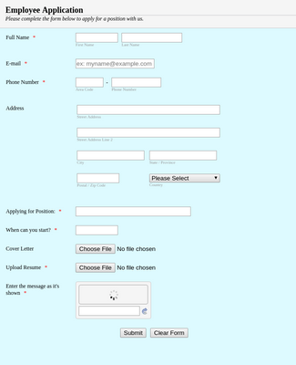 Simple Employee Application