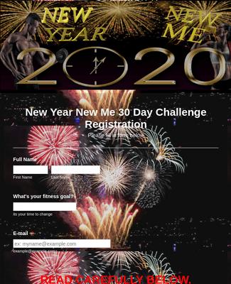 New Year 30 day challenge