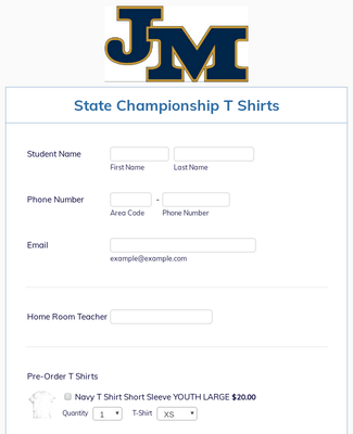 JMA State Championship T Shirts